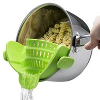 Wholesale Pan Strainer - Clip-on Strainer, Silicone Pasta Clip on Strainer, Dishwasher Safe Colander, Universal Size Fit Most Pans, Suitable for Draining , Potatoes