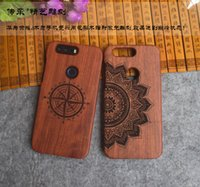 Wholesale Huawei Phone Housing - New Luxury 100% Wood Carving Case For Huawei Honor 8 Bamboo Cover Wooden Cases Hard Back Shell Protector Honor8 Phone Housing