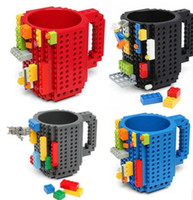 2017 Building Blocks Mugs DIY Creative Drink Tazza di caffè Moda personalizzata Decompression Water Cup 300-400ml DHL gratuito wn077