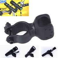 Wholesale Laser Bracket - Hot Selling Universal 360 Swivel Bicycle Bike Mount Bracket Holder Torch Clip Clamp for led flashlight laser pointer Free Shipping