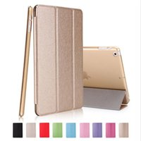 Wholesale Slim Magnetic Ipad Cases - Slim Silk Magnetic Smart Case Matte Back Cover For ipad 2 3 4 5 6 ipad pro 9.7 10.5 12.9 Inch With Auto Sleep Wake Up