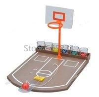 Wholesale Favor Games - Wholesale- Free Shipping 1Piece Table Top Basketball Drinking Game   Bingo Basketball Shot Glass Game