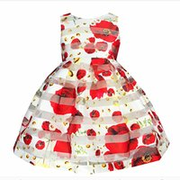 Wholesale Chiffon Plus Size Day Dresses - Summer Flower Baby Girl Dress Princess Tutu Kids Pageant Casual Sleeveless Cute School Girls Dresses Costume Plus Size Zk0549