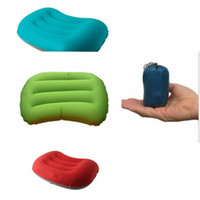 Wholesale Air Traveling - Hiking Mini Inflatable Air Pillow Bed Cushion Travel Hiking Camping Rest Traveling Airplane Pillows Cushion KKA2789