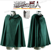Attack On Titan Shingeki No Kyojin Scouting Legion Top Cosplay Grade Cloak Cape para Eren Ackerman Armin Levi