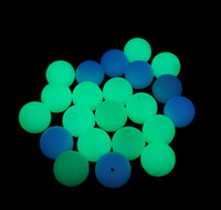 ohrring steine diy großhandel-Natürliche Leuchtende Perlen Stein Runde Lose Perlen im Dunkeln leuchten 6mm 8mm DIY Armbänder Ohrringe Halskette Schmuck