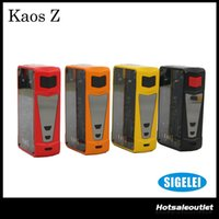 Wholesale led features - Authentic Sigelei Kaos Z 200W TC VW APV Box Mod with Transparent Side Panels and New LED Lighting Features 100% Original