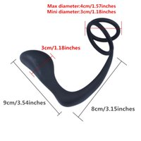 Wholesale Men Adult Toys Full Silicone - FREE SHIPPING!!Adult Anal Sex Toys Full Silicone Male Prostate Massager With Cock Ring Safe Smoothly Butt Plug For Men Flexible Stimulatior