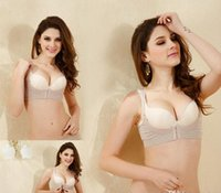 Wholesale Support Corset Bra - sexy corsets New Body Shaper Breast Support Lift Instantly Bra Beige Dude Seamless slimming chest holder shaper Bra Push Up OPP Bag