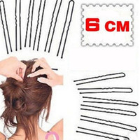 18pcs / pack 6CM capelli ondulati a forma di U Bobby Pin Barrette Salon Grip Clip Forcelle nere dropshiping