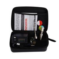 Wholesale 16mm Led - leather case Enail Dabbing DNail Remote LED Screen Smart Electric Temperature Controller 16mm 20mm Coils heater Titanium Nail Ti carb cap