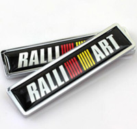Wholesale car ralliart for sale - High Quality Zinc alloy Sticker Car Sticker Label Emblem Badge Ralliart Motor sports car styling x14mm for Mitsubishi