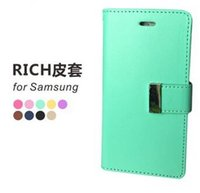 Wholesale Iphone Cheap Leather Case - New Cheap Case for iPhone7 Mercury Rich Diary Wallet PU Leather Case For iPhone 5 SE 6 7 Plus Samsung S5 S6 S7 Edge Note 5 A5 A7 LG K10 DHL