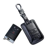 d193d645417a cuir voiture clé porte-clés cas de couverture pour chevrolet captiva 2014  2015 2016 smart télécommande porte-clés portefeuilles chevy keychain auto  ...