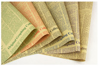 Wholesale Newspaper Wrapping - 2016 hotsales Flowers wrapping paper rose bundle packing material high-grade english newspaper retro kraft paper(2)