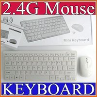 50PCS 2.4G White Wireless PC Keyboard + Mouse Keypad Film Kit Set para DESKTOP PC Laptop D-JP
