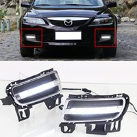 Wholesale Led Roll Lights Kits - Car DRL Kit for MAZDA 6 2006 -2009 LED Daytime Running Light bar auto Fog lamps bulb External daylight for car led drl light 12V