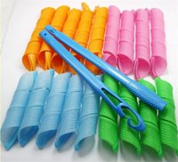 Wholesale Hair Dryer Stick - 18PCS Circle of Styling Roller Does Not Hurt The Hair Curlers Pear Head Cone Head Hair Stick Snail Roll Salon Hair Accessories Bendy Roller