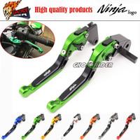 Wholesale Ninja Lever - fits for KAWASAKI NINJA 250 300 2013-2015 Motorcycle Accessories Adjustable Folding Extendable Brake Clutch Levers