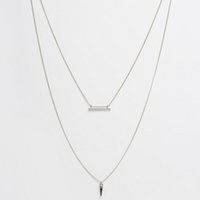 Wholesale Stick Spikes - Mini Spike Pendant Stick 2 Layer Chain Choker Necklace Simple Concise Style OEM ODM Wholesale