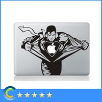 Wholesale Macbook Pro Vinyl - Laptop Stickers Superman Personality Vinyl Decals for New Macbook 12 retina macbook Air Pro Retina 11 13 15 Inch stickers laptop skin