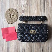 Wholesale Handbag Buttons - 2016 high quality genuine leather women handbags Rivet bag