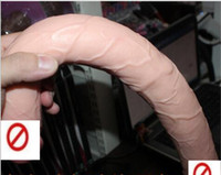 Wholesale Long Sex Woman - Double Head Dildo Realistic Penis Extra Long Dildo Double Head Penis Double Dong Sex Toys for Women Ladies Gay Sex Products