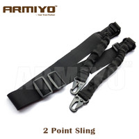 Wholesale Rifle Sling Buckle - Armiyo 2 Point Adjustable Aiguillette Bungee Shoulder Strap Wrap Rifle Sling Spring Buckle System Hunting Gun Accessories