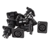 50Pcs \ Lot 3 Pin XLR weiblichen Chassis Socket Panel Mount Adapter Stecker schwarz