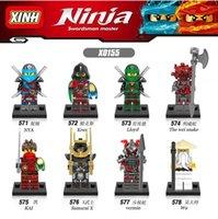 Wholesale Educational Toys Block Ninja - 8pcs set X0155 Educational Minifigures Ninja Krux KAI Lloyd Wu Samurai X Vermin Wei Snake NYA Building Blocks Children Christmas Gift Toys