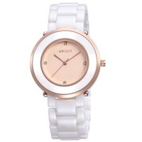Relógios Weiqin Women Watch Rose Gold Fashion Casual Relógios impermeáveis ​​Quartz de luxo Cerâmica Moderno Feminino Dress Clock Fashion Gift