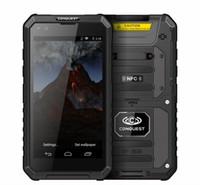 bateria de volta para celular venda por atacado-Conquest S10 IP68 Telefone À Prova D 'Água 5.5