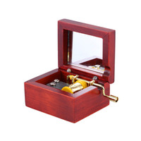 Wholesale Hand Crank Music - Classical Wood Musical Box Hand Crank Music Box With Mirror Best Gifts for Girls