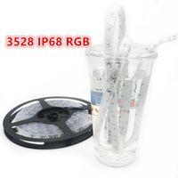 ip68 llevó luces de tira del rgb al por mayor-100M / Lot IP68 LED Strip 3528 SMD RGB Led Flexible Strip Strip Light Silicone Tubing + Crystal Epoxy a prueba de agua
