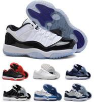 Wholesale brown velvet fabric - 2017 11 XI Low GS Blue Moon Citrus Velvet Heiress BlackDevil BRED Men Women Basketball Shoes Sport Sneakers 11s Basket Shoes