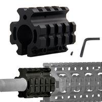 "Wholesale Gas Quad - Airsoft Hunting 0.75inch .223 rem 5.56mm Adjustable Quad Rail Gas Block Mount For 0.75"" Barrel Accessories RL1-0008"