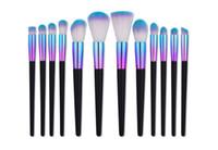 Wholesale makeup brush tubes resale online - Mileegirl New Makeup Brushes Set Rainbow Tube Wood Professional Foundation Contour Face Brush Kits