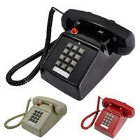 Wholesale Phones Landline - Antique telephones home telephone cored phone Retro Style Telephone Landline Wired Corded Table Telephone for Home Office Phone