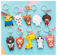 Wholesale Silicone Men Dolls For Women - Korea cute cartoon Key Rings car silicone key bag keychain ornaments sided doll small pendant for women wholesale DHL freeshipping 2016 new