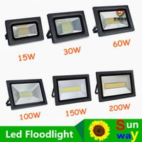Wholesale Led Street Projector Lights - Waterproof LED Flood Light 200W 150W 100W 60W 30W 15W Reflector Floodlight Spotlight Street Outdoor Wall Lamp Garden Projectors