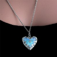 Wholesale tin gift cans - Popular jewelry round hollow silver can be opened luminous luminous pendant necklace