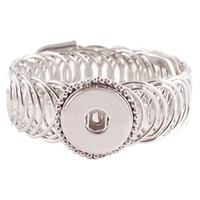Wholesale silver jewelry sellers resale online - Best Seller High Quality Interchangeable Snap Bracelets Jewelry For mm Snaps Fit Ginger Snaps Charm Bracelet Accessories Kc0622