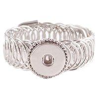 accesorios de pulseras del encanto al por mayor-Mejor Vendedor de calidad intercambiables pulseras de alta joyería para Snap 18 mm encaje de forma Ginger Snaps encanto de la pulsera Accesorios Kc0622