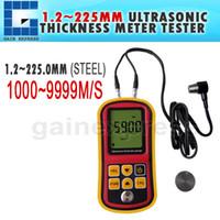 Wholesale Ultrasonic Thickness Meter Gauge Velocity - TM100 Portable Ultrasonic Thickness Meter Tester Gauge Metal and Non-Metal 1000~9999m s Velocity Measurement