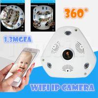 Wholesale Best Cctv Wholesalers - Best selling Video Camera VR 1.3MP 1280*960 WiFi 360 Degrees Panoramic Fisheye IP Camera Night Vision Professional CCTV Cameras