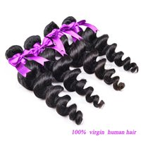 Wholesale 28 Inch Bundle Hair - Factory Supplier 8A quality 3 bundles of Indian Hair brazilian hair 8-28 inches LOOSE Wave body Curly Weave Human Hair Extensions