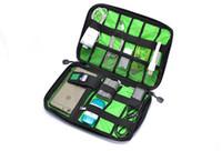 Wholesale Trunk Usb - High Quality Large Cable Organizer Bag Multifunctional Digital Storage Bag For Hard Drive Cables USB Headphones Headset Travel Messenger Bag