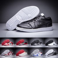 Drop Shipping Wholesale Chaussures de basket-ball Hommes Femmes Retro 1 Low Sneakers Boots 2016 Classique Haute qualité J1S Outdoor Sports Shoes Taille 8.0-13