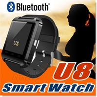 smartwatch u оптовых-Супер быстрая доставка Bluetooth Smartwatch U8 U часы смарт часы Наручные часы Android телефон