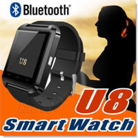 Wholesale note smart phones - Bluetooth Smartwatch U8 U Watch Smart Watch Wrist Watches for iPhone 6 6S Plus Samsung S7 edge Note 5 HTC Android Phone Smartpho OTH014